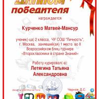Курченко 1 м В стране знаний