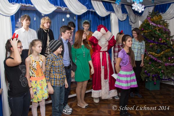 Новогодняя шоу-программа и дискотека для учеников средней и старшей школы