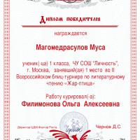 Магомедрасулов 1м жар-птица
