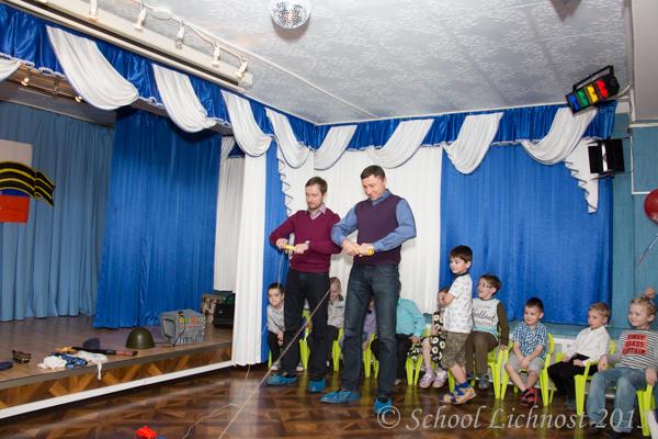 Детский сад отмечает 23 февраля